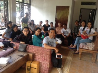 Bali Peduli Staff hold a farewell for Dr Uta